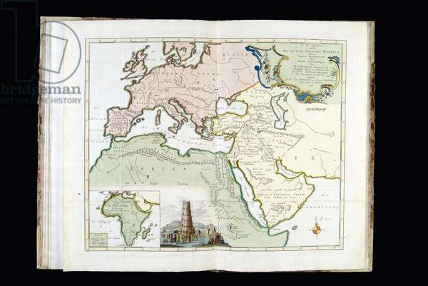 Map of the World known to the Ancient, 1761 (hand-coloured engraving)