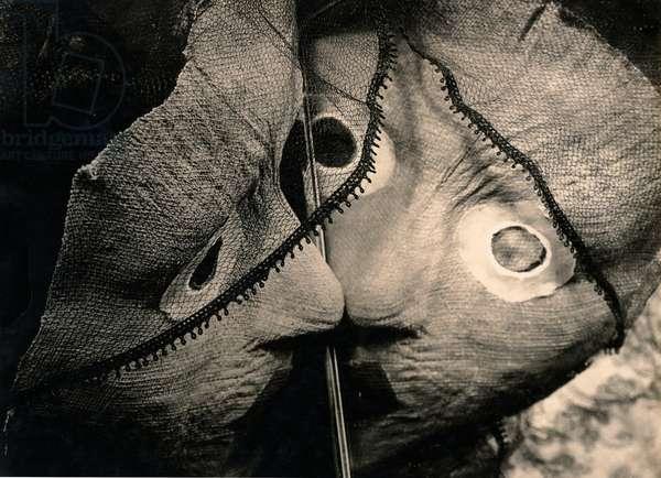 Masks, c.1930 (b/w photo)