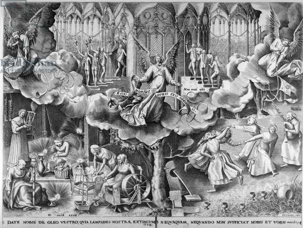 The Parable of the Wise and Foolish Virgins c.1560 (engraving)