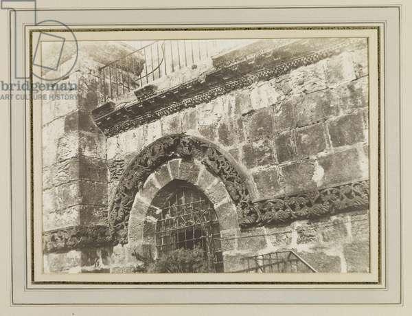 Jerusalem, Holy Sepulchre (detail of the facade), 1854 (salt print)