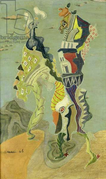 The Genesis of Forms, 1946 (oil on panel)