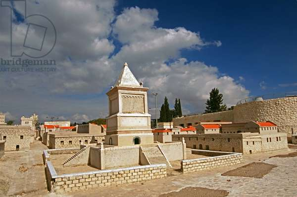 Model reconstruction of King David's Tomb in Jerusalem in 66 AD (photo)