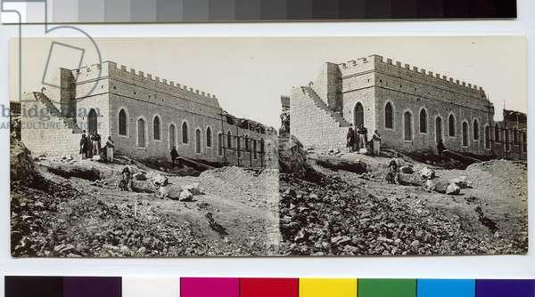 Mishkenot Sha'ananim, 1860s (b/w photo)