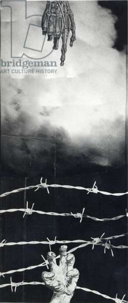 The Cycle of Time IV, 1969 (photocollage) (b/w photo)