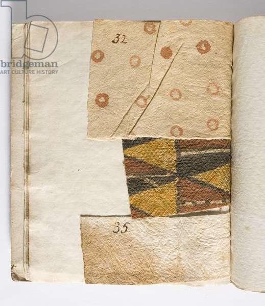 Tapa cloth specimen, collected 1768-80 (tapa cloth)