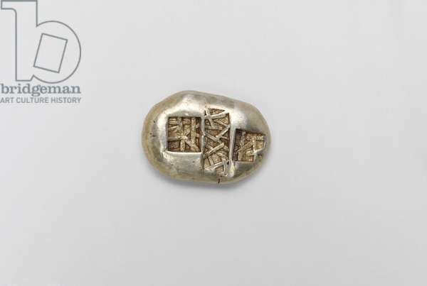 Coin with stag, Western Turkey, late 7th- early 6th century BC (electrum) (reverse of 403300)