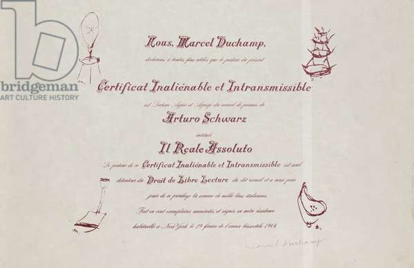 Certificat de Lecture (Degree in Reading) 1964 (litho)