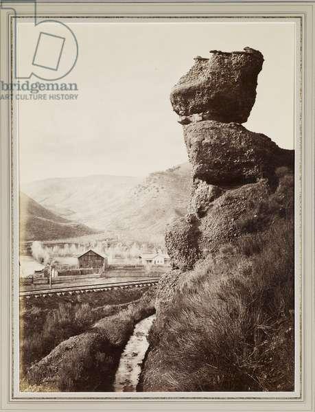 Pulpit Rock, 1870 (albumen print)