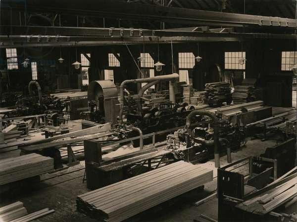 Wood mill, c.1930 (b/w photo)