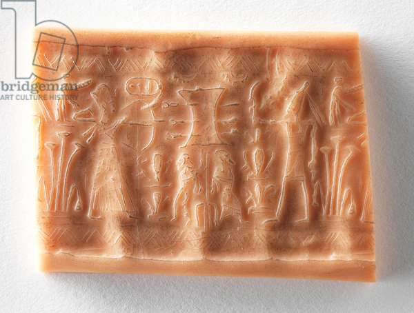 Cylinder Seal with name of Ramesses II, 1279-1212 BC, from Beth Shean (wax)