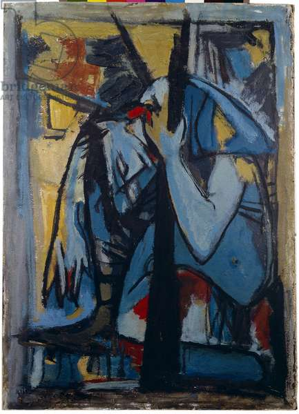 Wounded Soldier, 1948-49 (oil on cardboard)