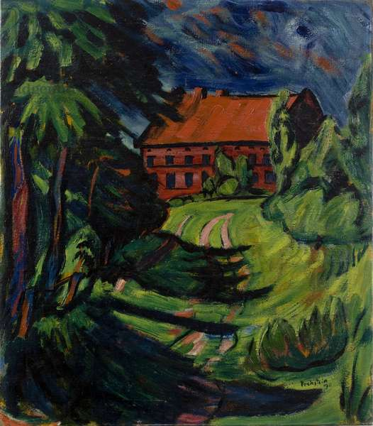 The Red House, 1911 (oil on canvas)