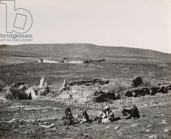 Khan Al-Jujjar (Hanot Taggarim) Galilee, 1850s (vintage silver print)