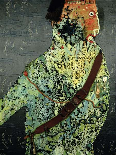 General Trumpeter, 1961 (mixed media on canvas)