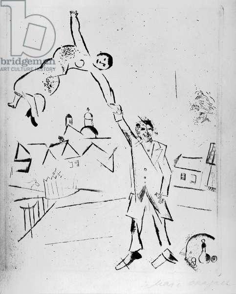 "La promenade II (Additional engraving for the continuation of ""Ma Vie"") 1922"