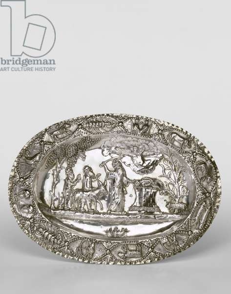 Pidyon ha-Ben Plate, 1838 (repousse, punched and engraved silver)