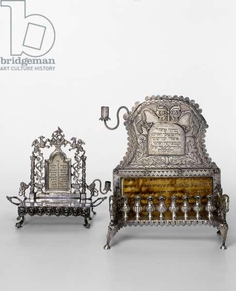 Hanukkah Lamps (silver)