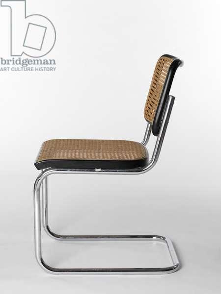 Chair (Cesca chair), 1928 (chromium-plated tubular steel, wood & woven cane)