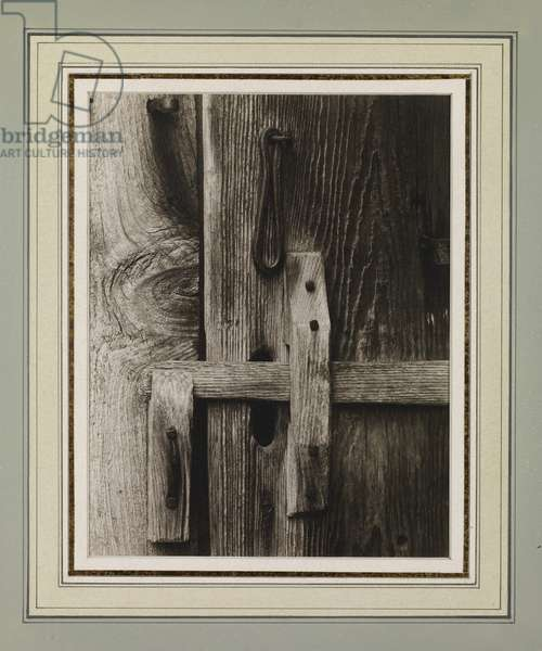 Latch, New England, 1944 (platinum print)