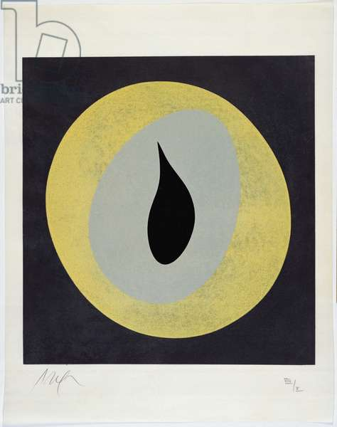 The Sun Recircled, 1966 (colour woodcut)