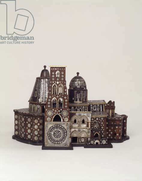 Model of the Church of the Holy Sepulchre (wood & mother-of-pearl)
