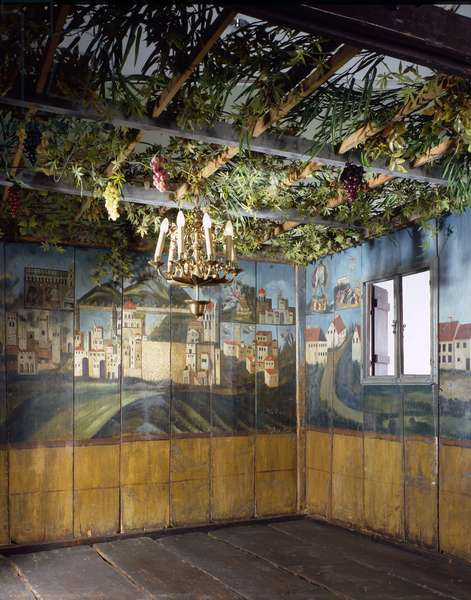 The Sukkah of the Deller Family, Fischach, Southern Germany, c.1837 (wood & oil paint)
