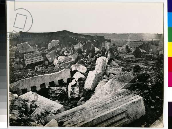 Ruins at Capernaum, 1850s (vintage silver print)
