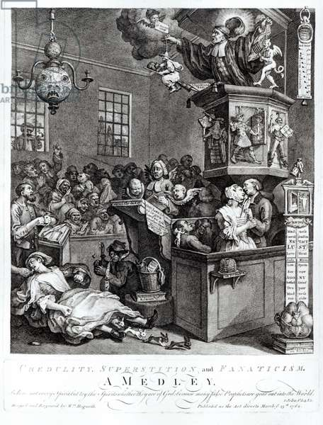 Credulity, Superstition and Fanaticism, 1762 (engraving)