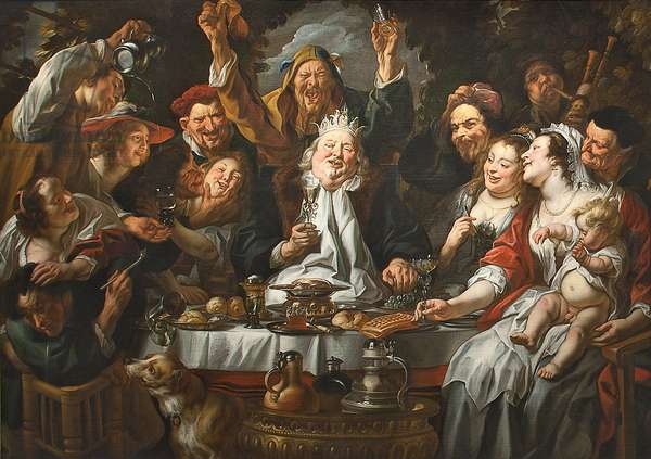 The King Drinks a Twelfth Night Feast, c.1645 (oil on canvas)