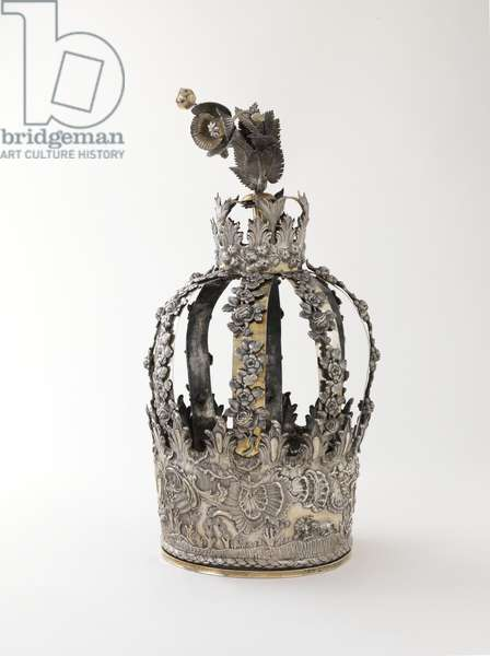 Torah crown with depiction of animals, ca. 1797 (silver, repousse, cast and partly gilt)