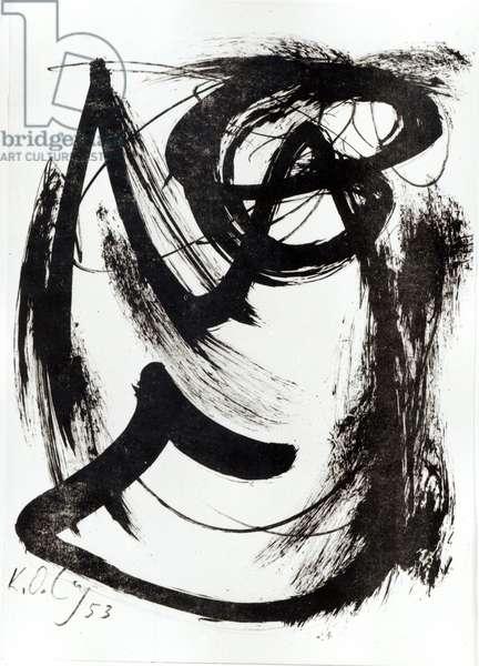 Composition, 1952 (gouache on paper)