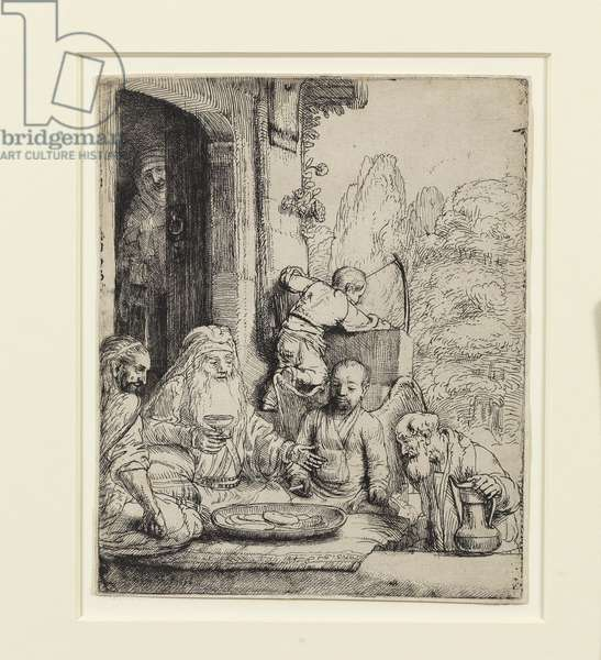 Abraham Entertaining the Angels (etching)