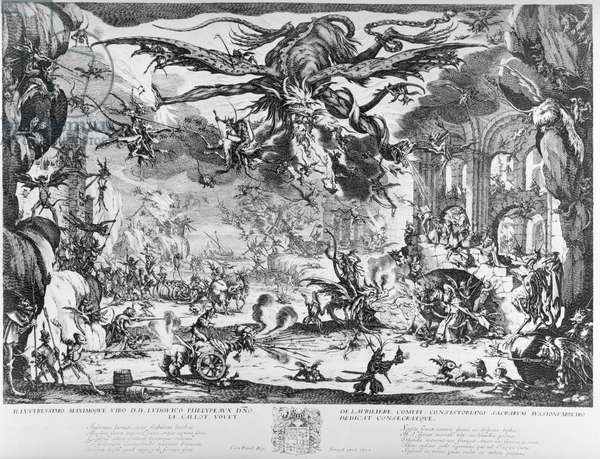 The Temptation of St. Anthony, 1635 (etching)