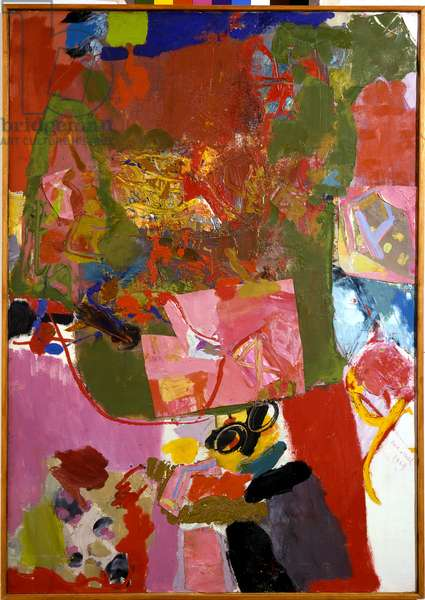 Untitled, 1969 (oil & collage on canvas)
