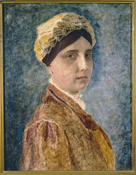 Portrait of a Jewish Woman (oil on panel)