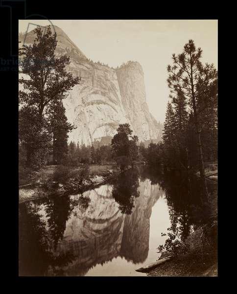 Washington Column, Yosemite, c.1866 (albumen print)