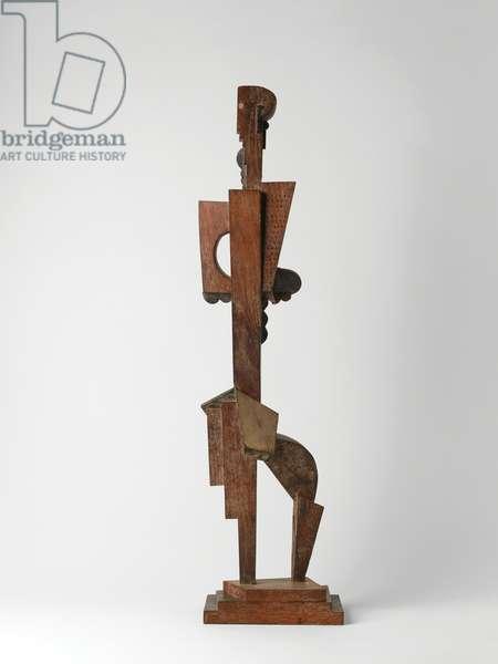 Detachable Figure (Dancer), 1915 (natural & painted wood)