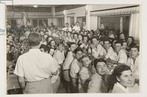 Celebration for the Arrival of Austrian Youth to a Kibbutz, from 'The Land of Israel', 1938 (gelatin silver print)