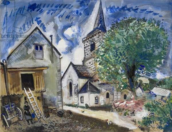 The Church at Chambon-sur-Lac, 1926