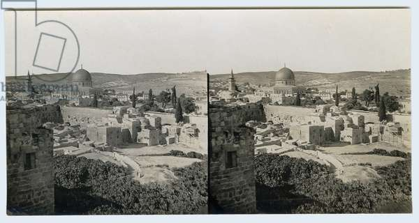 Panoramic view from the Jewish Quarter, 1850s (gelatin silver print)