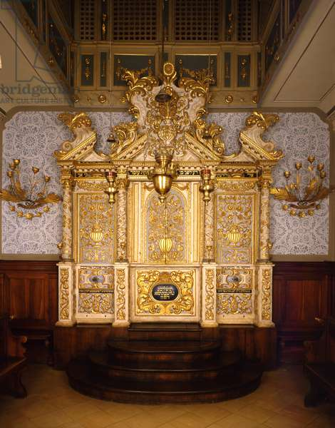 Interior of the Vittorio Veneto synagogue, Northern Italy (photo)
