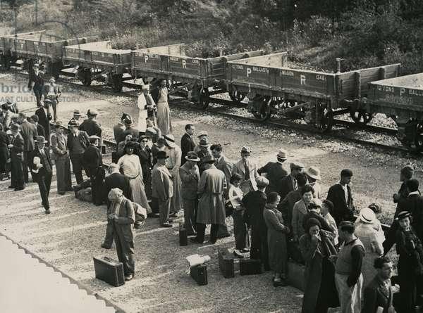 Railway Station, Lod, c.1940 (b/w photo)