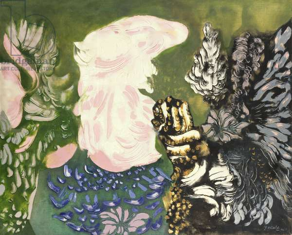 The Skin of the Air, 1972 (oil on canvas)