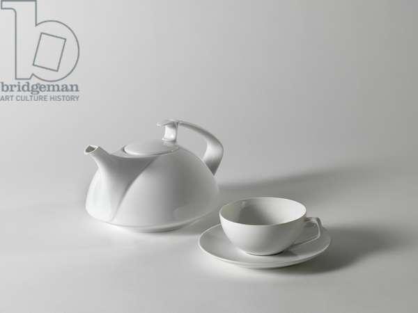Tac 1 tea service, 1969 (glazed porcelain)