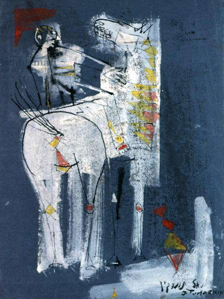 Don Quixote, 1956 (gouache & ink on paper)