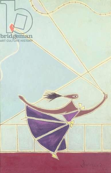 The Kite, 1950 (gouache & oil on canvas)