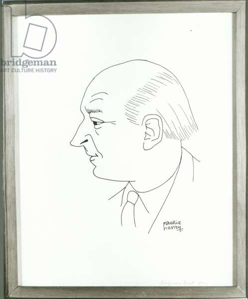 Portrait of Benjamin Peret (1899-1959) 1949 (ink on paper)