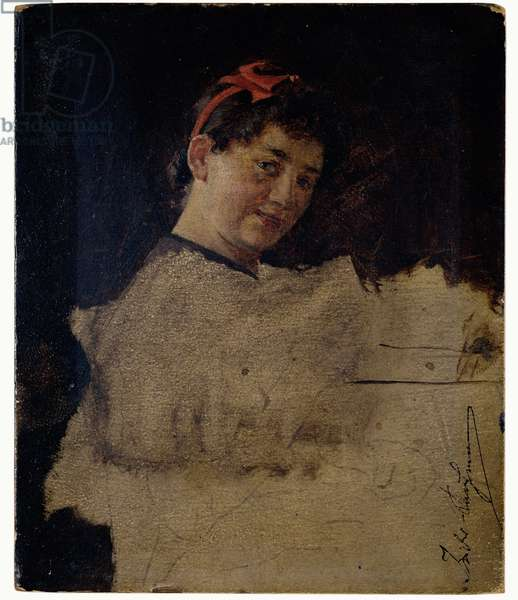 Study for a Portrait of the Artist's Daughter (oil on panel)