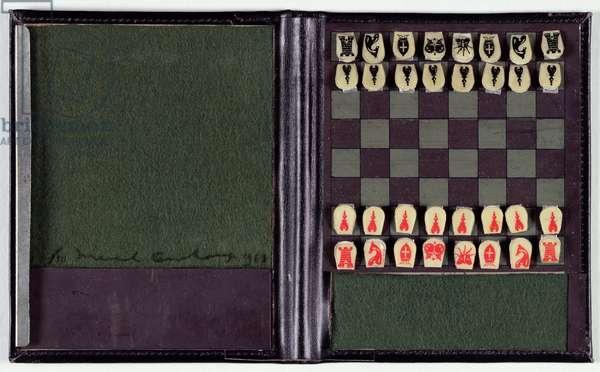 Pocket Chess set, 1943/61 (mixed media)