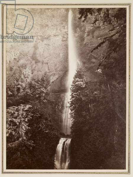 View Along the Columbia, c.1880 (albumen print)